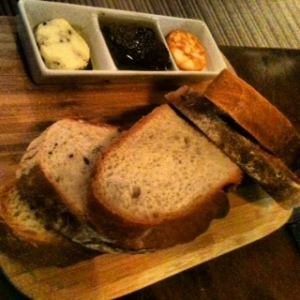 Selection of Home Made Breads, Flavoured Butter & Oils