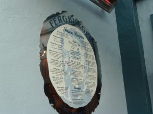 Fergburger's Menu