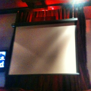 Huge projector screen