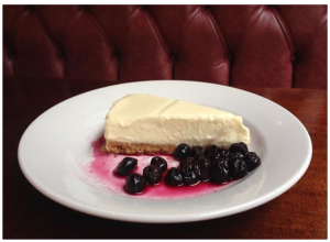 Byron White Chocolate Cheesecake with Blueberries