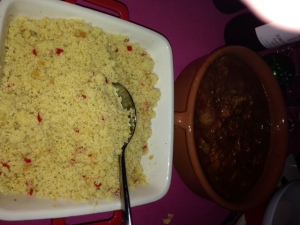 Lamb Tagine with apricot  & Couscous
